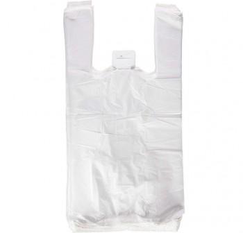 Paquete 200 bolsas camiseta plástico 50x40 cm blanco