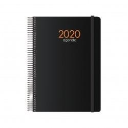 DOHE Agenda espiral 15x21cm D/P SYNCRO negro 2021