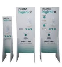 YOSAN Punto higienico doble (con Gel 500ml. y guantes plásticos o masacrillas de 1 capa  incluido)