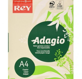ADAGIO Paquete 500h papel color paper 80gr DINA4 crema