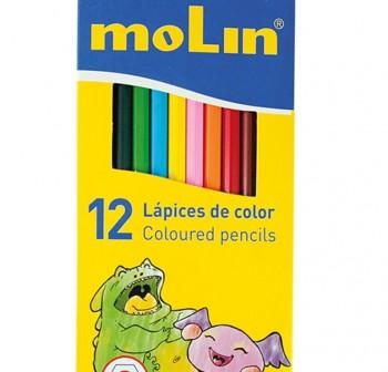 MOLIN Lapices 12 colores largos
