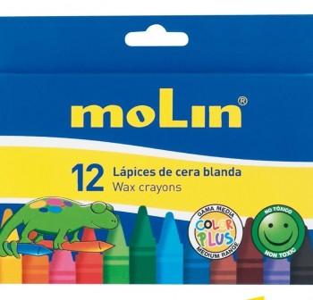 MOLIN Cera blanda 12 colores surtidos