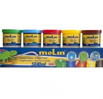 MOLIN Kit de pinturas de dedos 40gr. PK5