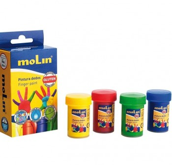 MOLIN Kit de pinturas de dedos 30gr. PK4