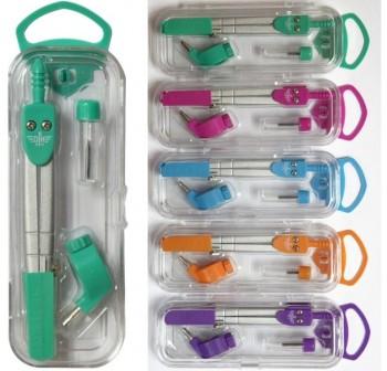 DFH Compas escolar con protector de aguja y colores surtidos