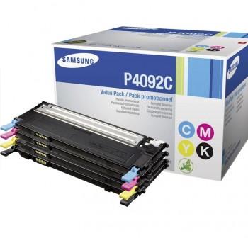 Pack de 4 tóner láser Samsung CLT-P4092C/ELS cyan, magenta, amarillo y negro
