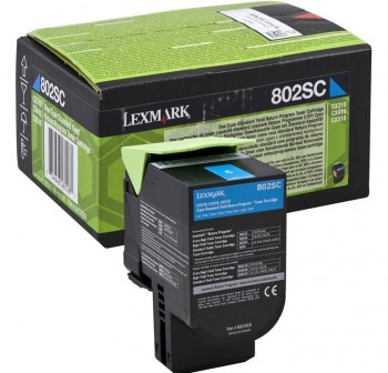 Tóner láser retornable Lexmark 80C2SC0 cyan