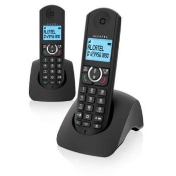 ALCATEL Teléfono inalámbrico DUO F380s  Negro