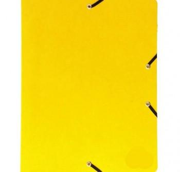 PAPIER Carpeta folio elastico con solapa carton reforzado