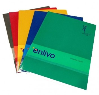 ENLIVO Libreta grapada folio pauta 2,5mm