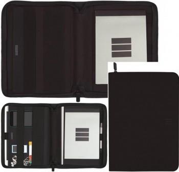 Portadocumentos cremallera A5/tablet Multifin j955 negro