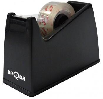 DEQUA Portarrollo sobremesa para cinta de 33cm negro