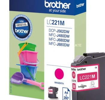 BROTHER Cartucho inkjet LC-221M original MAGENTA
