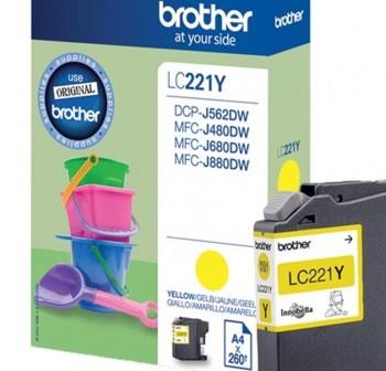 BROTHER Cartucho inkjet LC-221Y original AMARILLO