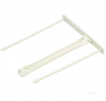 BANKERS BOX Caja de 100 fasteners de plástico blanco (100mm)