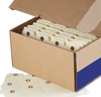 UNIPAPEL Etiqueta colgante con arandela en c-1000 unidades 70x120mm