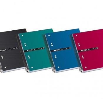 ENRI Cuadernos tapa contracolada A5 160h cuadricula 5x5 tapa extradura surtido