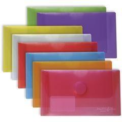 FIXO Pack 5 sobres polip. velcro recibos 225x130mm FUCSIA