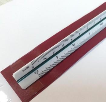 DFH Escalimetro 30cm 6escalas . con funda