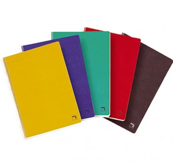 Cuaderno tapa dura PACSA folio 80h cuadricula 4 negro