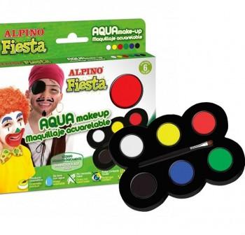 ALPINO Estuche de maquillaje 6 colores fiesta aqua make-up