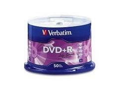 VERBATIM DVD+R 16X 4,7GB verbatim (tarrina de 50)