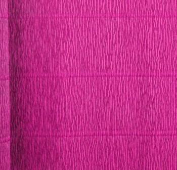 F7I Bobina papel crepe 50x250cm metalizado MAGENTA