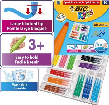 Estuche 96 rotuladores Bic Kids Couleur XL
