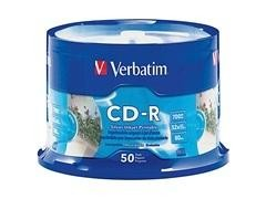 VERBATIM CD-R 16X 4,7GB 700Mb printable (tarrina de 50)
