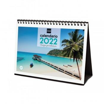 FINOCAM Calendario sobremesa P.PARADISIACOS 2022