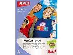 APLI Papel din A-4 para transfer prendas