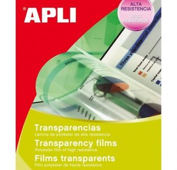 APLI Etiqueta A-4 transparente