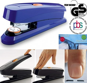 Grapadora automática flat-clinch Novus B8FC azul