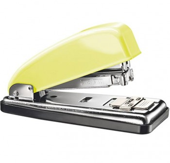 Grapadora Petrus 226 retro mellow yellow amarillo/cromado