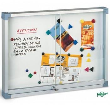 Faibo Vitrina imantada con puertas de metacrilato 90x120cm
