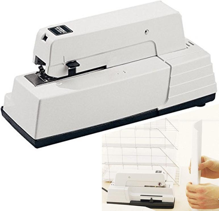 Grapadora eléctrica Rapid 90ec blanca