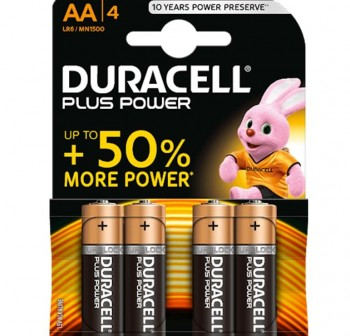 Pack 4 Pilas Duracell plus AA MN 1500-LR06