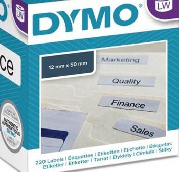 Rollo 220 etiquetas Carpetas colgantes Dymo Labelwriter 50X12mm blanco