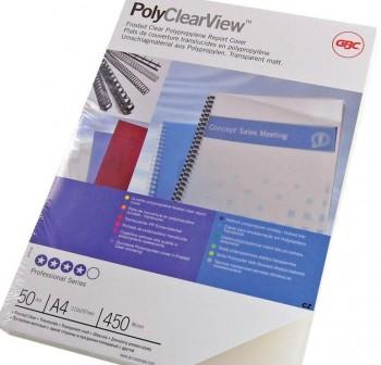 Caja 100 tapas encuadernación pp Polycovers 300mic A4 natural