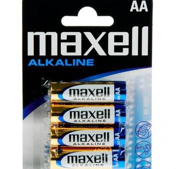 Pack 4 pilas Maxell LR06 XL-B4 MXL S AA 1,5v