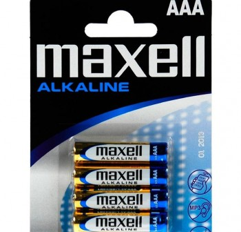 Pack 4 pilas Maxell LR03 XL-B4 MXL S AAA 1,5v
