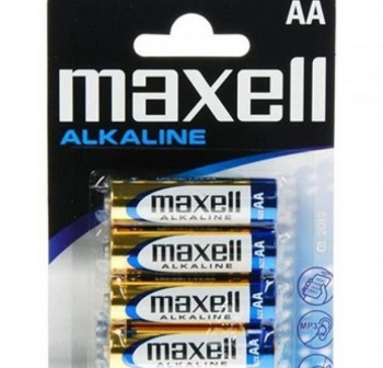 Pack 4 pilas Maxell AA LR06-B4 MXL 1,5v