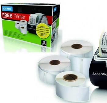 Pack 3 rollo etiquetas DYMO (S0722540+550+560) + 1 laberwrite 450 gratis