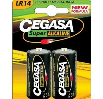 Pack 2 pilas Cegasa super alcalina C LR14