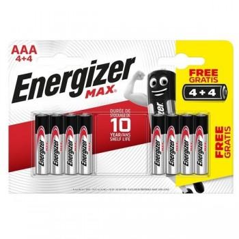 Bl.4 pilas alcalinas power max Energizer AAA+4 gratis Lr03
