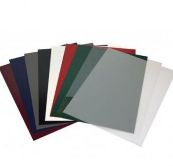 Caja 100 tapas encuadernación PVC 180mic A4 azul