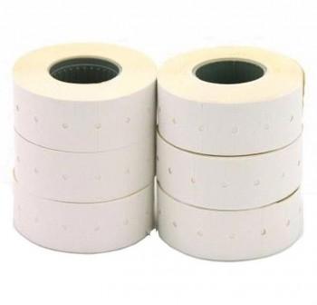 APLI Pack 6 rollos 1000 etiquetas para etiquetadora 21X12mm permanentes blanco