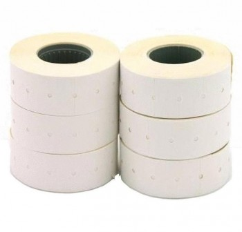 Pack 6 rollos 1000 etiquetas para etiquetadora 21X12mm removibles blanco