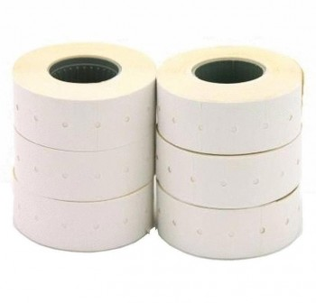 Pack 6 rollos 1000 etiquetas para etiquetadora 26X16mm permanentes blanco
