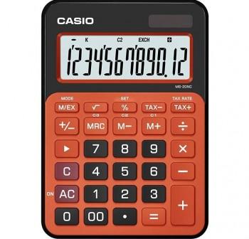 Calculadora de sobremesa casio MS20nc 12 dígitos naranja
